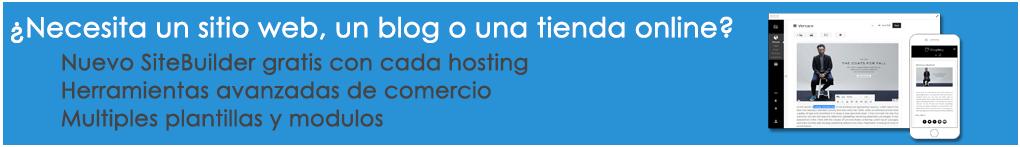 Sitebuilder tienda online gratis