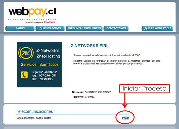 Como realizar un pago con webpay
